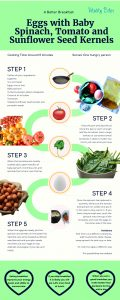 Eggs and Spinach Recipe Infographic